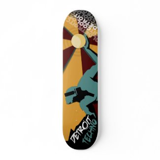 Detroit Techno Skateboard Deck by Cool Detroit skateboard