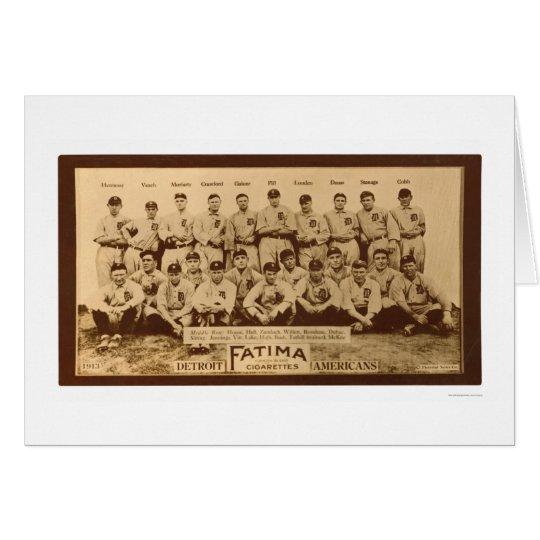 Detroit Tigers Baseball 1913 Card