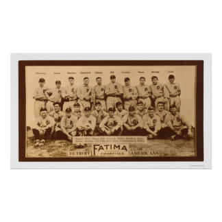 Detroit Tigers Baseball 1913 Poster