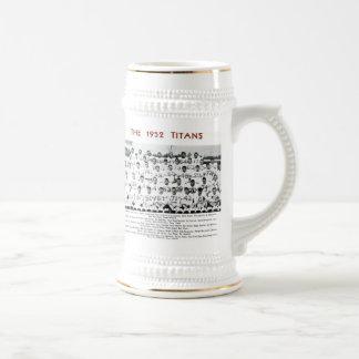 Detroit Titans 1953 MVC Co-Champs Beer Stein