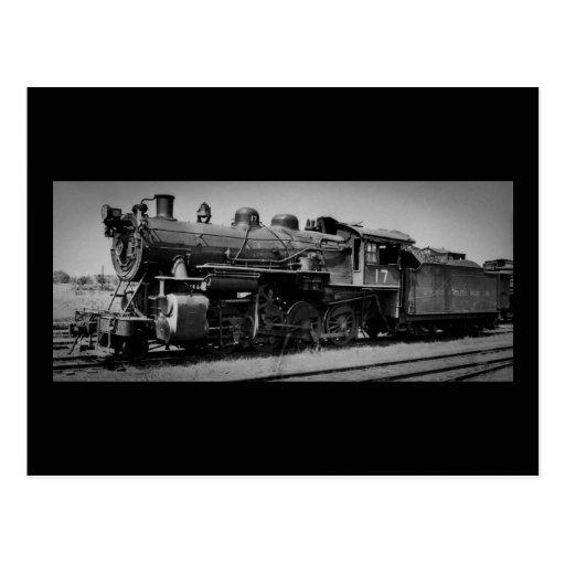 Detroit Toledo y motor 17 del ferrocarril de Postales