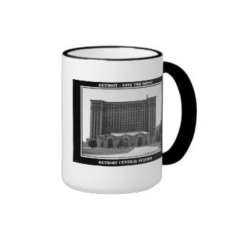 Detroit Train Station Coffee Mugs