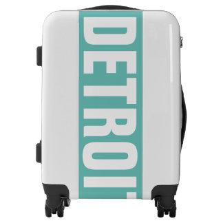 DETROIT, Typo white Luggage