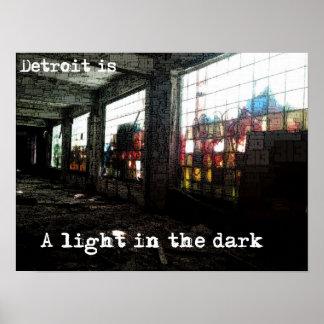 Detroit - una luz en el poster oscuro
