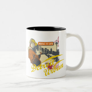 Detroit Urban T-shirts and Gifts Two-Tone Coffee Mug