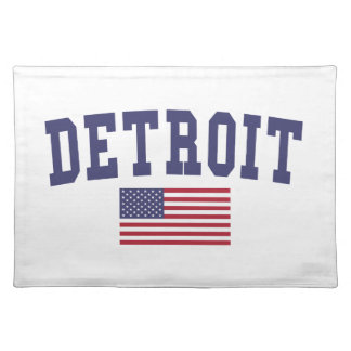 Detroit US Flag Placemat
