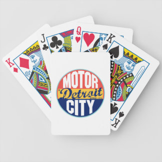 Detroit Vintage Label Bicycle Playing Cards