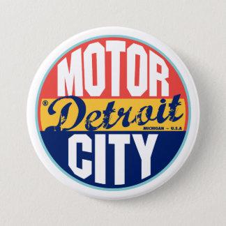 Detroit Vintage Label Button