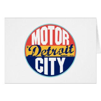 Detroit Vintage Label Greeting Cards