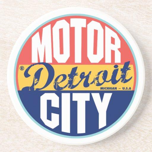 Detroit Vintage Label Coasters