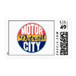 Detroit Vintage Label Postage