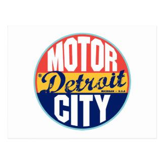 Detroit Vintage Label Postcard