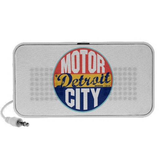 Detroit Vintage Label Travel Speakers