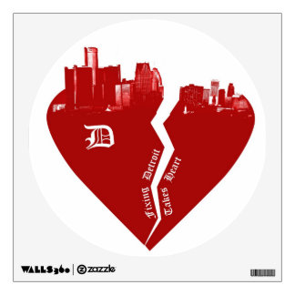 Detroit Wall Decal - Fixing Detroit Takes Heart
