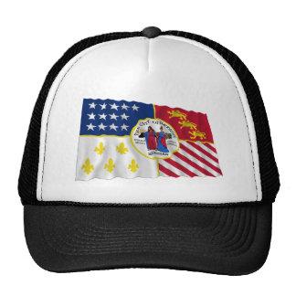 Detroit Waving Flag Trucker Hat
