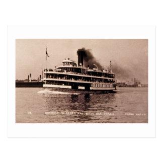 Detroit Windsor y transbordador de la isla de la Postales