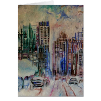 Detroit Winter Greeting Card