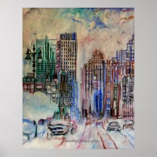 Detroit Wintry Halcyon Canvas Print