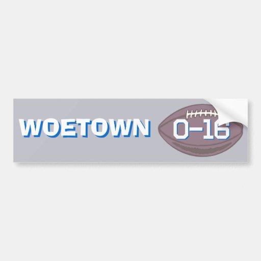 Detroit  : WOETOWN Bumper Sticker