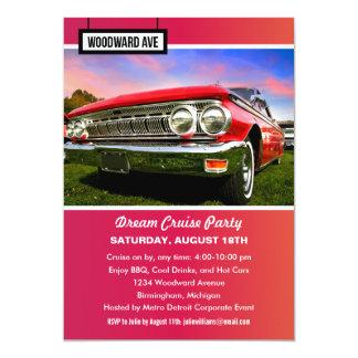 Detroit Woodward Dream Cruise Party Invitation