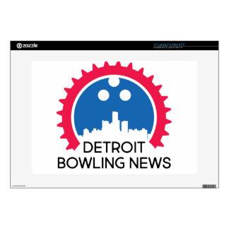 "DetroitBowlingNews.com Decals For 15"" Laptops"