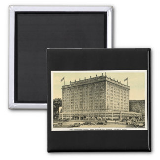 Detroiter Hotel Woodward Ave, Detroit, Michigan 2 Inch Square Magnet