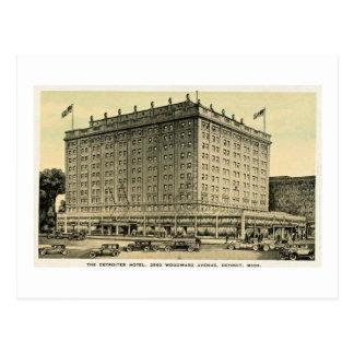 Detroiter Hotel Woodward Ave, Detroit, Michigan Postcard