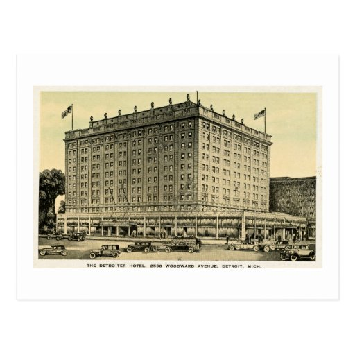 Detroiter Hotel Woodward Ave, Detroit, Michigan Post Cards