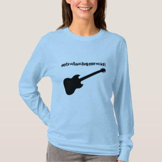 detroitmichiganrocks! black guitar T-Shirt