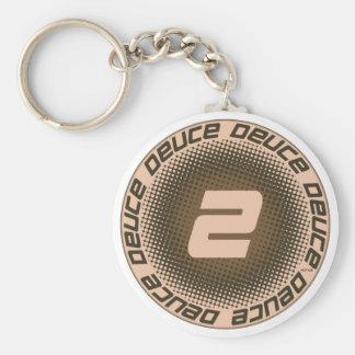 Deuce #1 basic round button keychain