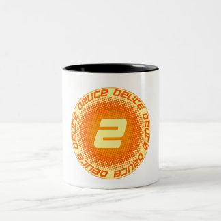 Deuce #2 Two-Tone coffee mug