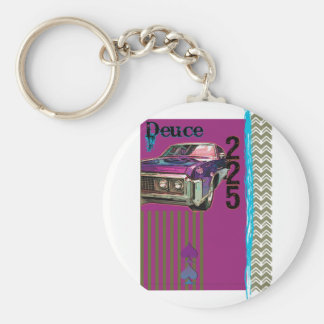 Deuce and a Quarter Basic Round Button Keychain