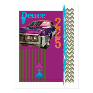 Deuce azul tarjetas postales