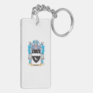 Deuce Coat of Arms - Family Crest Double-Sided Rectangular Acrylic Keychain