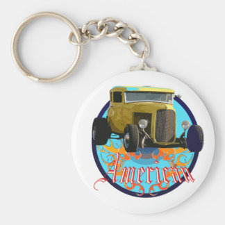Deuce coupe basic round button keychain