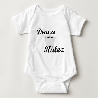 Deuces Black poker Baby Bodysuit