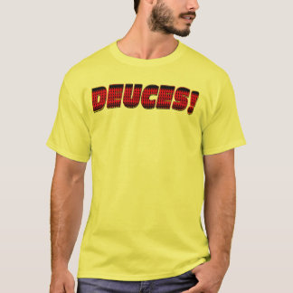 Deuces - Black Red Yellow T-Shirt