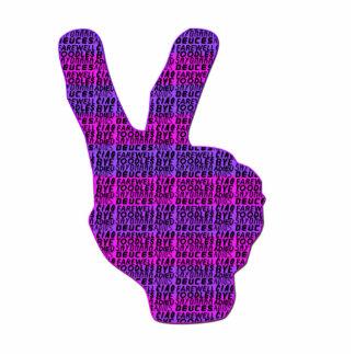 DEUCES-Pink-Purple Photo Sculpture Keychain