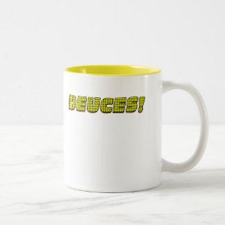 DEUCES-Yellow-Orange Two-Tone Coffee Mug