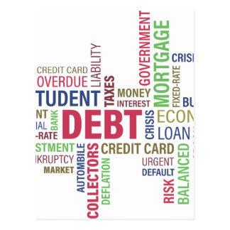 Deuda-crédito, pérdida postales