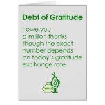 Deuda de la gratitud tarjetón