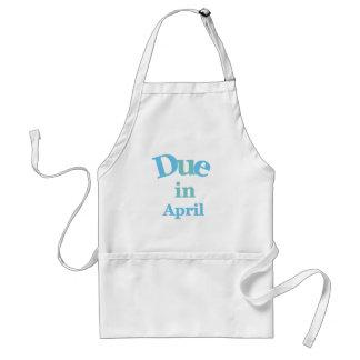 Deuda del azul en abril delantal