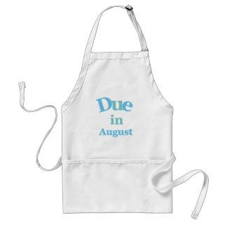 Deuda del azul en agosto delantal