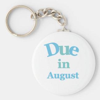 Deuda del azul en agosto llavero redondo tipo pin