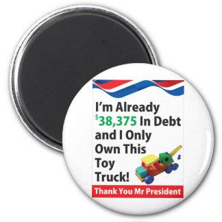 Deuda del camión imán redondo 5 cm