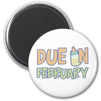 Deuda en febrero imán de frigorífico