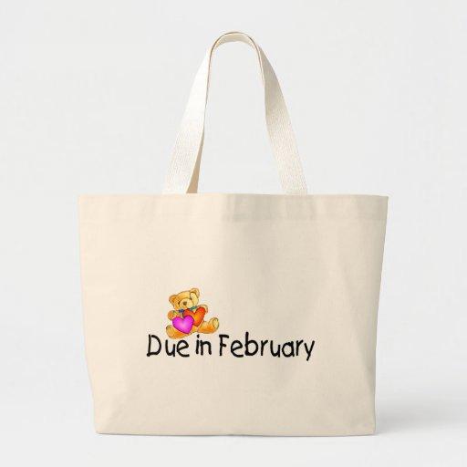 Deuda en febrero (peluche) bolsa tela grande