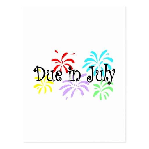 Deuda en julio tarjetas postales