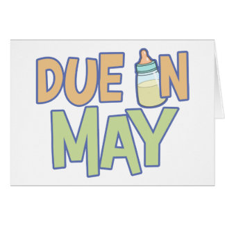 Deuda en mayo tarjeta de felicitación