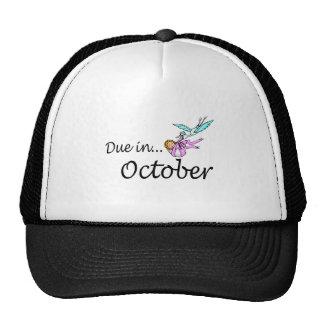 Deuda en octubre (bebé/cigüeña) gorras